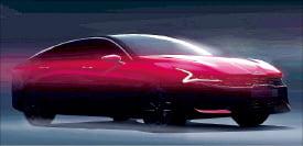 기아차, '타이거 페이스' 신형 K5 렌더링 이미지 공개