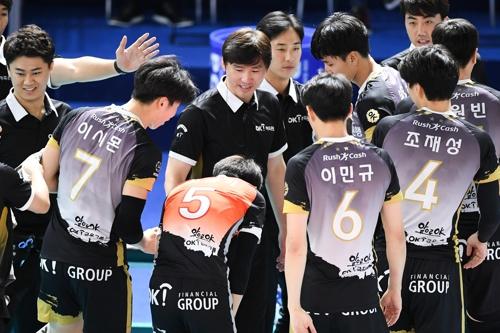 대한항공, OK저축은행 꺾고 컵대회 우승…MVP 비예나(종합2보)