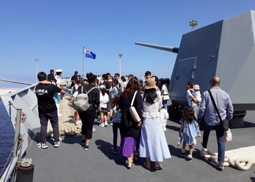 '세계 순항' 한국 군함, 4년만에 이집트 알렉산드리아 입항