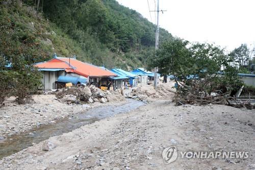 울진 750억원 등 경북지역 태풍 '미탁' 잠정 피해액 1천355억원