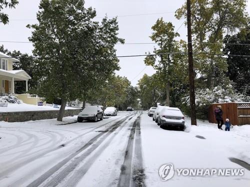 美중북부 겨울폭풍 강타…60㎝ 눈 내리고 기온 '뚝'