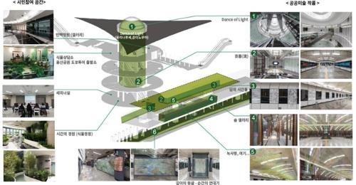 올해 공공디자인대상에 '녹사평역 지하예술정원'