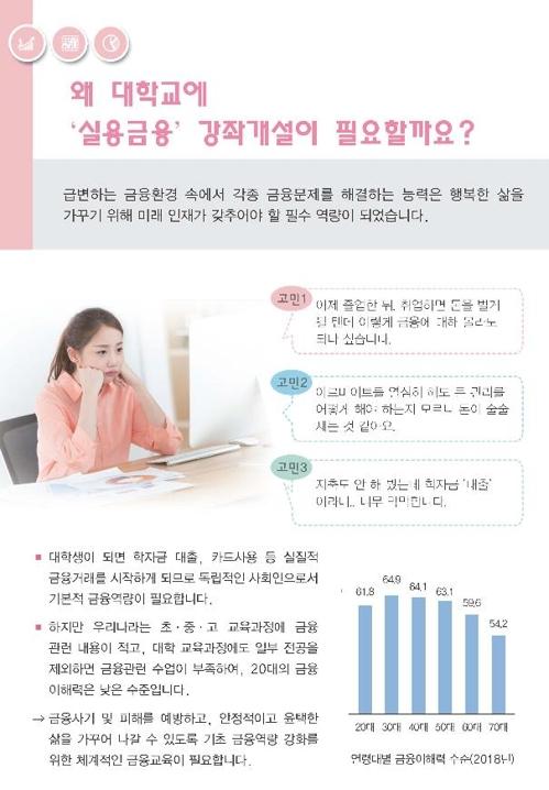 """금감원 """"2020학년도 대학 실용금융 교육지원 신청하세요"""""""