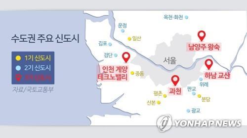 남양주·하남 등 3기 신도시 5곳 지구 지정…여의도 8배
