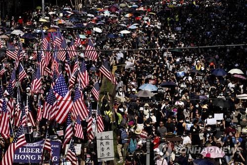"""트럼프 """"홍콩시위 많이 누그러져…미중 합의, 홍콩에 긍정적""""(종합)"""