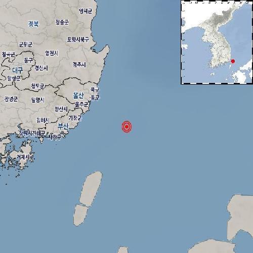"""기상청 """"울산 동구 남동쪽서 규모 2.5 지진 발생"""""""