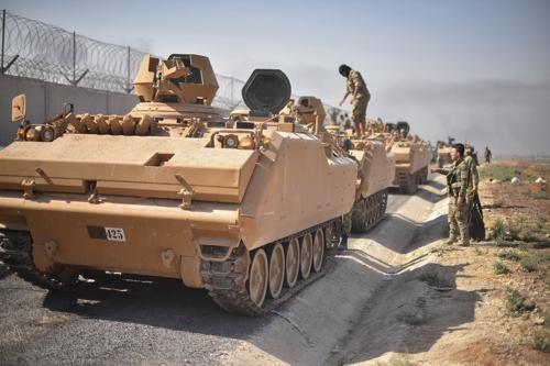 중화기·제공권 앞세운 터키, 시리아 내 쿠르드 요충지 점령