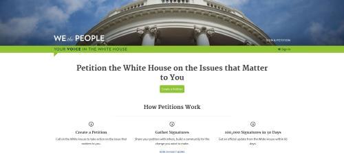 미 백악관 청원 사이트에 대만 국가승인 요구 등장