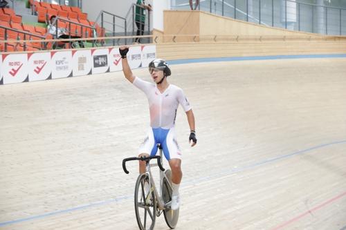 사이클 김유로, 아시아선수권 포인트 레이스 금메달