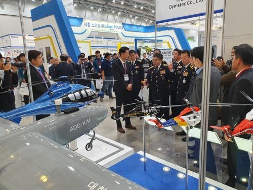 '참수리' 수출 도전…KAI, 국제치안박람회에 경찰헬기 5종 선봬