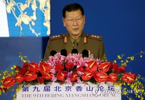 北인민무력성 부상, '南공격무기·한미 군사훈련' 비난
