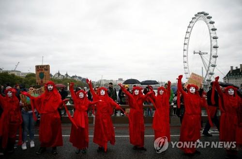 전 세계 60여 도시서 '멸종저항' 시위…첫날 수백명 체포(종합2보)