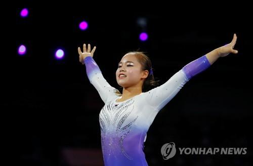 여서정, 세계기계체조선수권대회 도마 결선서 8위