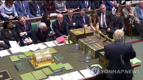 英 존슨 총리, 야당 대표 만나 브렉시트 법안 의사일정 논의