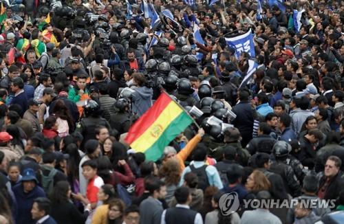 볼리비아 모랄레스, 결선없이 4선 확정?…표차 확대에 논란 증폭