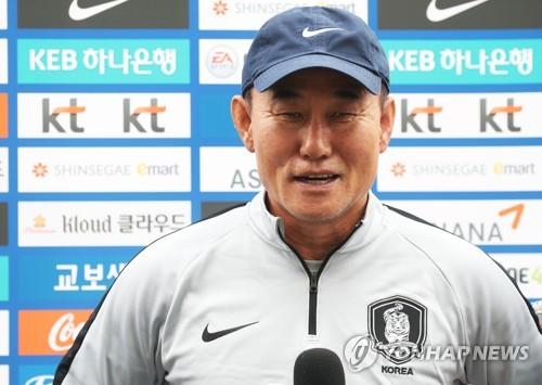 """김학범 """"우즈베크 2연전, 26명 다 뛴다…정우영 활용법도 준비"""""""