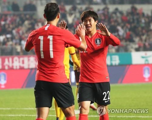 '김신욱 4골+손흥민 멀티골' 한국, 스리랑카에 8-0 대승(종합)