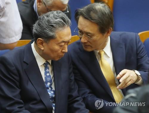 """日 하토야마 전 총리 """"피해자가 '그만' 할 때까지 사죄해야""""(종합)"""