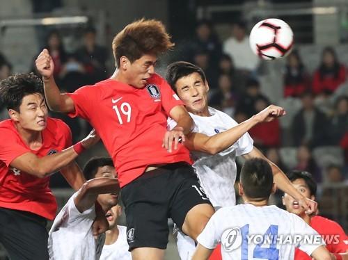 '골!골!골!' 김학범호, 우즈베크와 1차 평가전서 3-1 역전승