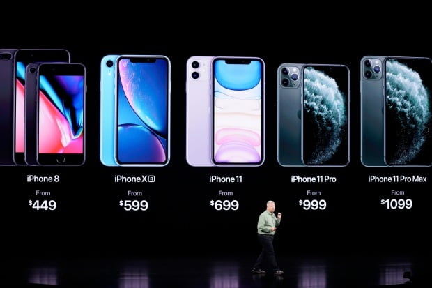10일(현지시간) 미국 캘리포니아주 쿠퍼티노 애플 본사에서 열린 신작 '아이폰 11' 제품군 발표회에서 필 실러 글로벌 마케팅담당 수석 부사장이 제품에 대해 설명하고 있다. /사진=AP 연합뉴스