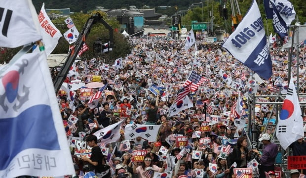 10월 3일 광화문 집회, 한국당 300만 참가 발표 /사진=연합뉴스