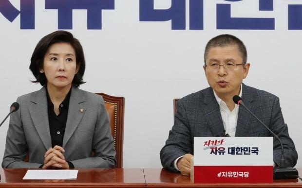 자유한국당 나경원 원내대표, 황교안 대표 /사진=연합뉴스