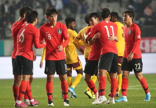 8대0으로 승리한 한국/사진=연합뉴스
