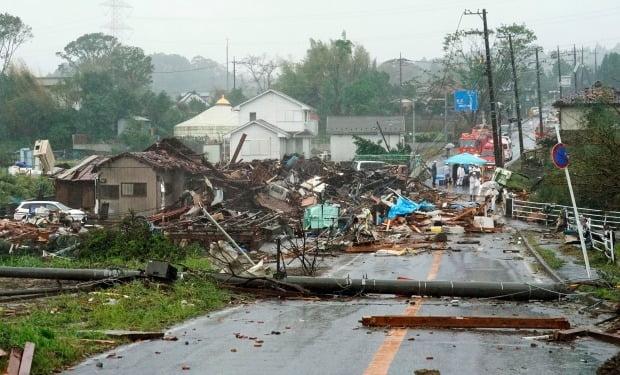태풍 '하기비스' 일본 강타, 후쿠시마 원전 경보 /사진=AP
