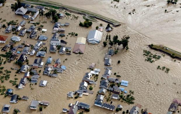 태풍 하기비스 피해를 입은 일본/사진=AP