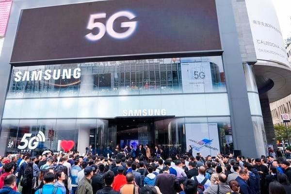삼성전자가 지난달 18일 중국 상하이에 문을 연 모바일 플래그십 스토어. 삼성전자 제공.