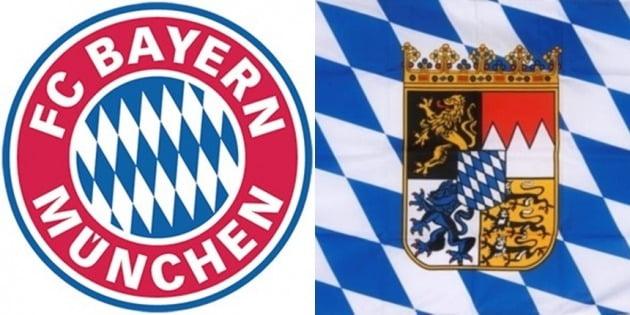 독일 분데스리가 명문 축구클럽 바이에른 뮌헨 엠블럼(좌) / 독일 바이에른 주의 깃발(우) [사진=각각 바이에른 뮌헨, 독일 바이에른 주 홈페이지]