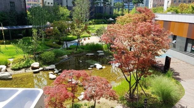 GS건설 '미사강변센트럴자이' 조경 사진.