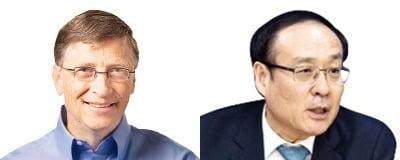 MS와 서울대가 15일 AI 연구협력을 위한 파트너십을 체결했다. 오세정 서울대 총장(오른쪽)은 빌 게이츠 MS 창업자(왼쪽)가 2013년 서울대를 찾아 강연한 인연을 언급하며 양 기관의 연구협력 성과를 기대했다. / 사진=한경 DB