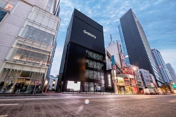 지난 3월 문을 연 갤럭시 하라주쿠. 전 세계 갤럭시 전시장 가운데 규모가 가장 크다. 삼성전자 제공