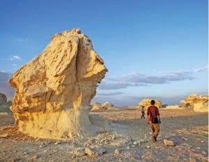 백사막의 저물 무렵