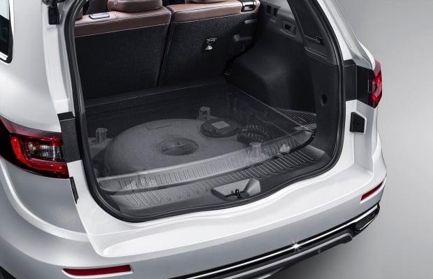르노삼성 더 뉴 QM6는 도넛탱크를 적용해 넓은 적재공간을 확보했다. 사진=르노삼성자동차