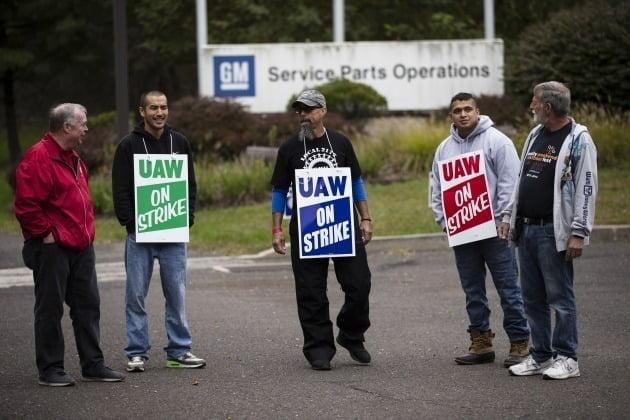 미국자동차노조(UAW)의 노조원들 모습 [사진=AP 연합뉴스]