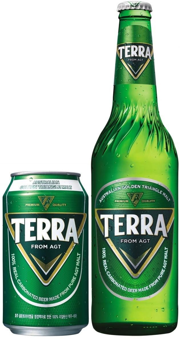 특허심판원, 맥주 '테라' 병 특허 침해 해당 않는다고 판단(사진=하이트진로 제공)