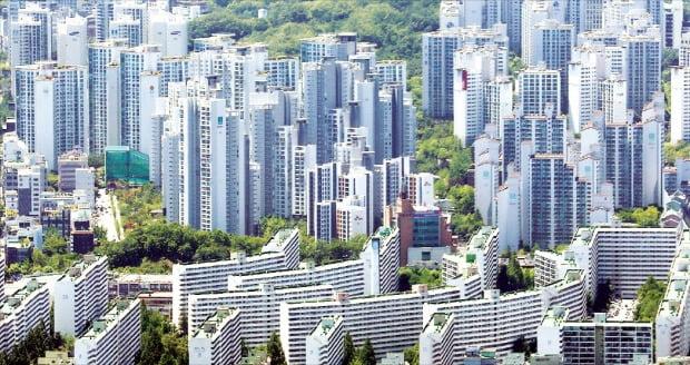 강남 대치동 일대 아파트 단지. 한경DB