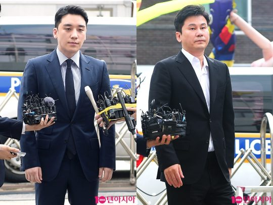 빅뱅 전 멤버 승리(왼쪽)와  YG엔터테인먼트 전 대표 프로듀서 양현석./ 사진=텐아시아 DB