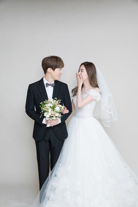 배우 황바울, 간미연 웨딩화보 / 사진제공=모더니크 스튜디오