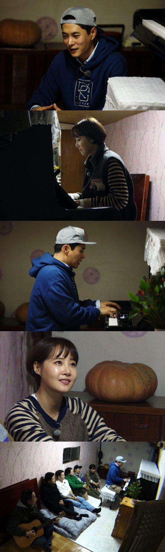 '불타는 청춘' 이기찬과 강경헌의 피아노 연주. /사진제공=SBS