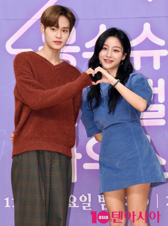 이대휘와 강민아가 8일 오후 서울 양천구 목동 SBS 사옥에서 열린 SBS 모비딕 숏폼드라마 '몽슈슈글로벌하우스'(이하 몽글스) 제작발표회에 참석하고 있다.