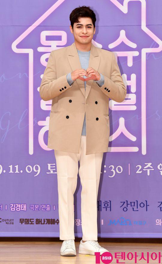 크리스티안 부르고스가 8일 오후 서울 양천구 목동 SBS 사옥에서 열린 SBS 모비딕 숏폼드라마 '몽슈슈글로벌하우스'(이하 몽글스) 제작발표회에 참석하고 있다.