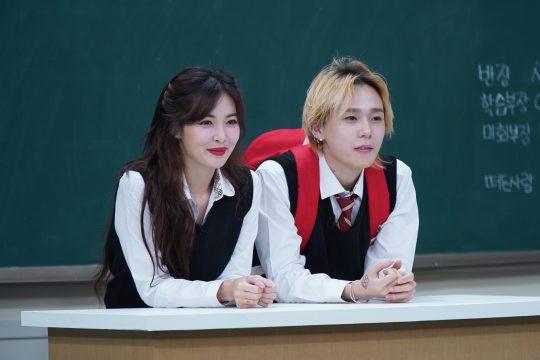 '아는 형님'에 출연하는 가수 현아(왼쪽), 던./사진제공=JTBC