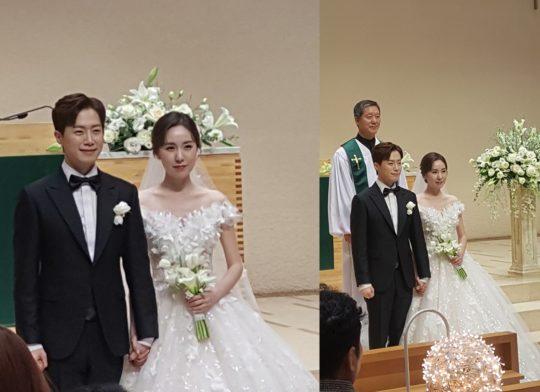 배우 간미연, 황바울 결혼식 현장 사진./사진제공=드림스톤엔터테인먼트