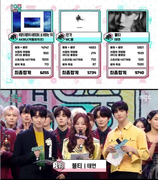 사진=MBC '쇼!음악중심' 방송 화면 캡처.