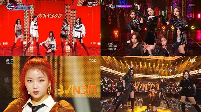 BVNDIT(밴디트), 컴백 1주차 활동 종료…화끈한 라틴 카리스마는 '덤(Dumb)'