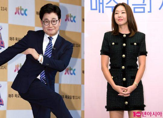 방송인 김성주-모델 한혜진./ 사진=텐아시아DB