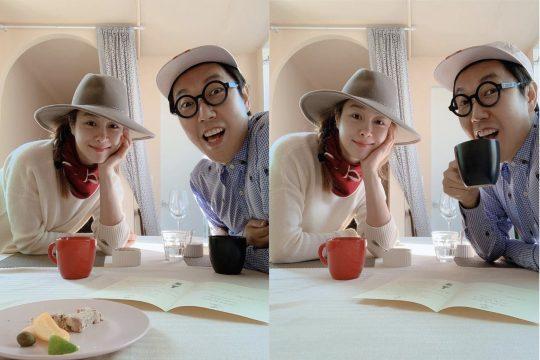 옥주현(왼쪽), 김영철. /사진=김영철 인스타그램